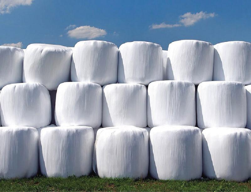 Стрейч пленка для сенажа белая, производство Германия